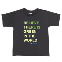 Kids T-Shirt - Green is the world (Black)